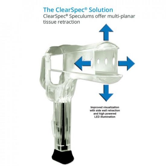 Clearspec Lighted Speculum , Medium, Case of 100