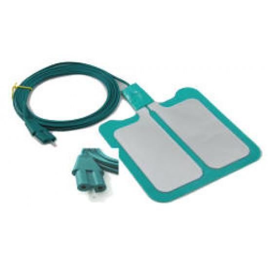 Conductive Electrode Pad, Dual Dispersive, Disposable; Box of 25,