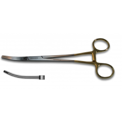 Z-Clamp Hysterectomy Forceps, Slight Curve 9.5""